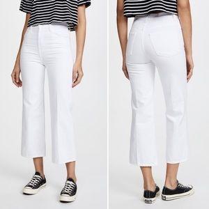 J Brand Joan crop super high rise white jeans